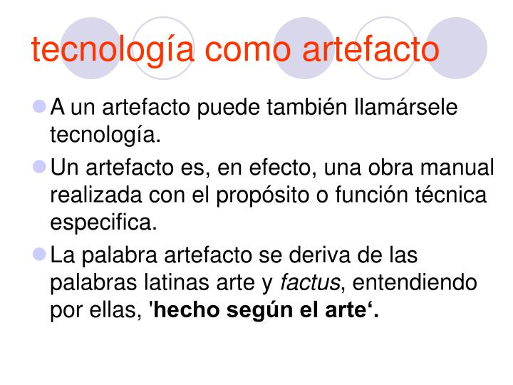 tecnología como artefacto