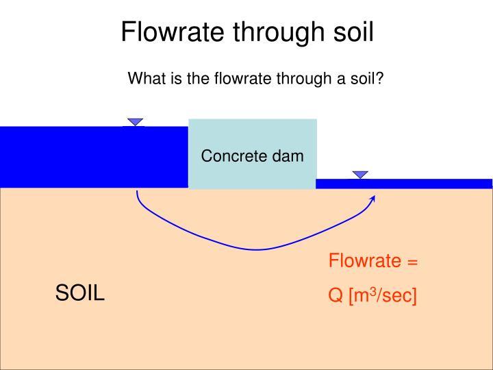 Flowrate through soil