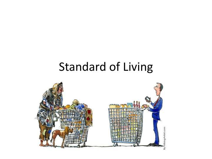 standard of living n.