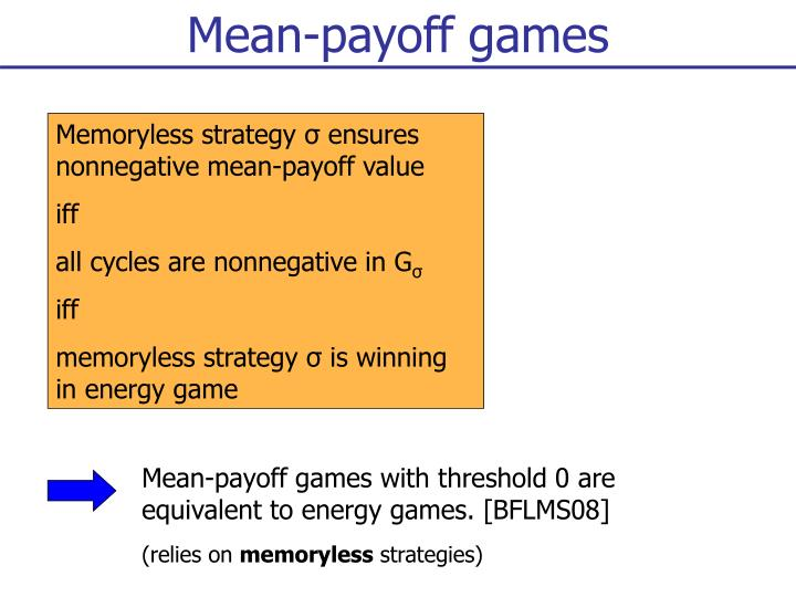 Mean-payoff games