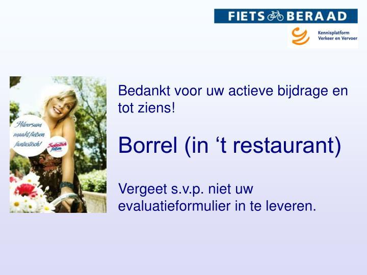 Borrel (in 't restaurant)