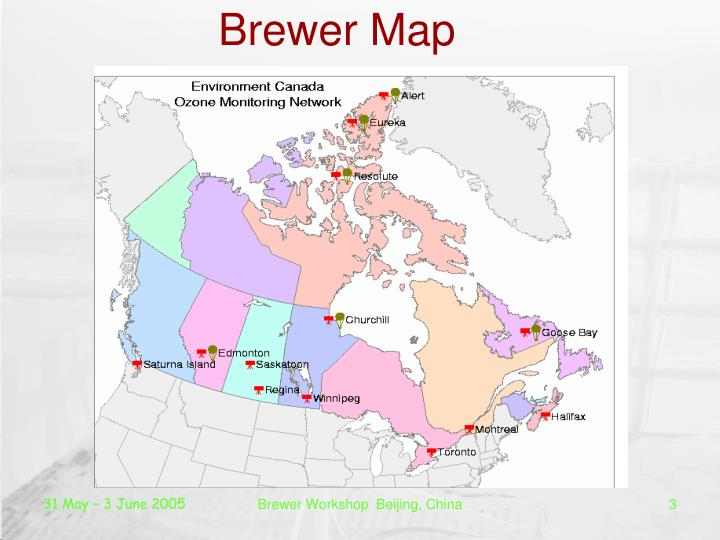 Brewer map