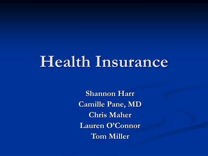 health insurance n.