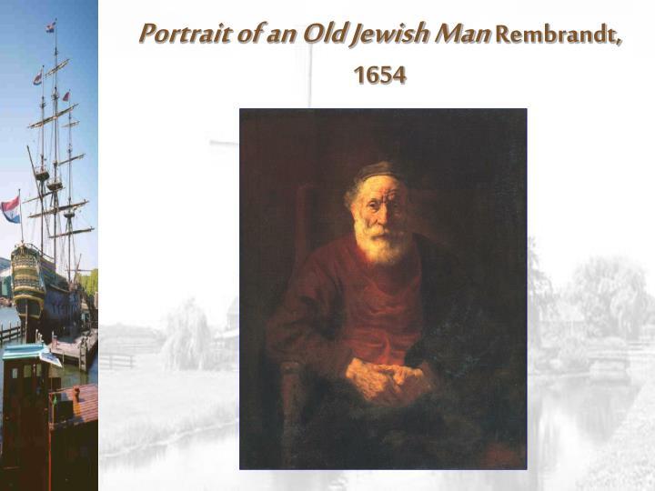 Portrait of an Old Jewish Man