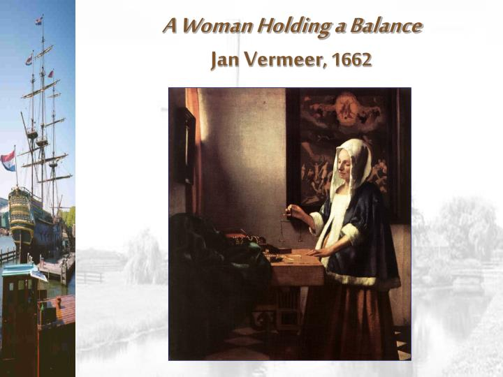 A Woman Holding a Balance