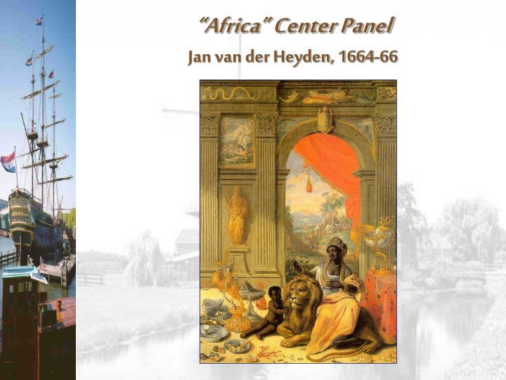 """Africa"" Center Panel"