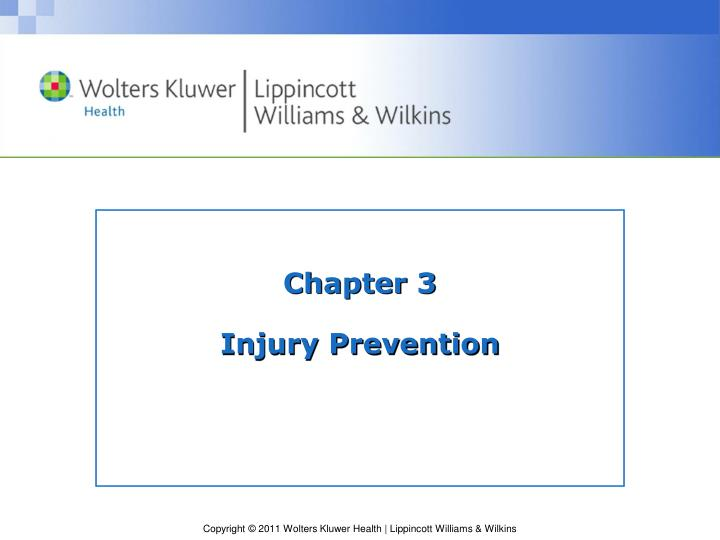 chapter 3 injury prevention n.