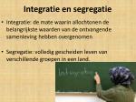 integratie en segregatie