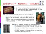 generation 0 mechanical computers