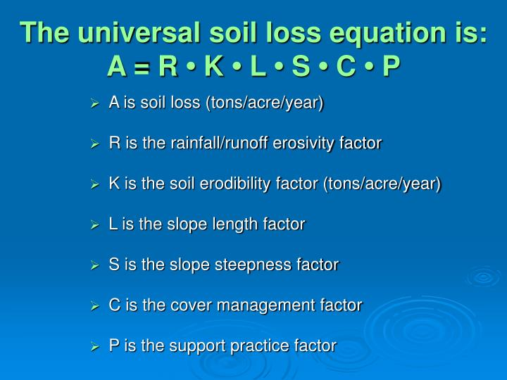 Ppt ce 513 powerpoint presentation id 3574249 for Soil k factor