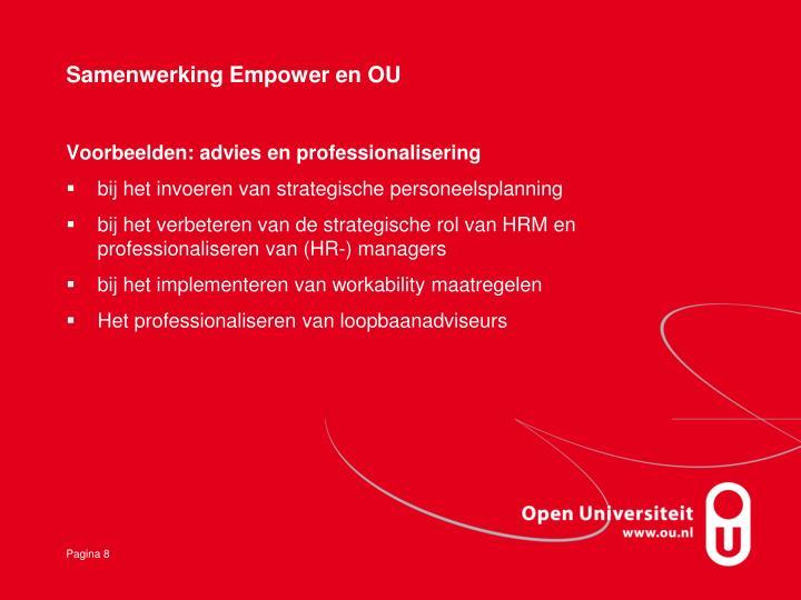Samenwerking Empower en OU