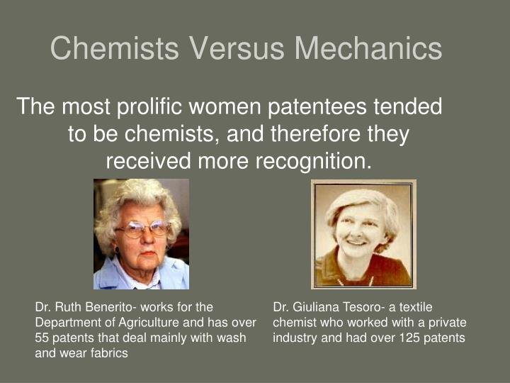 Chemists Versus Mechanics