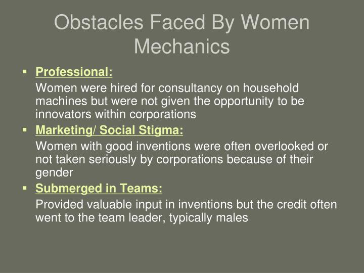 Obstacles Faced By Women Mechanics