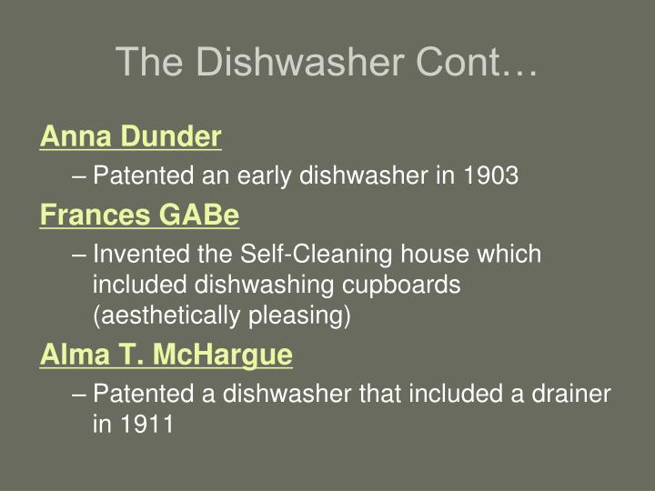 The Dishwasher Cont…