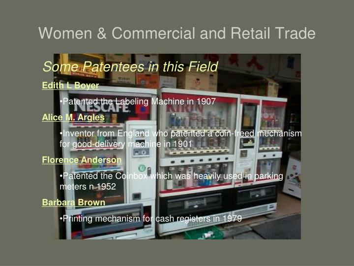 Women & Commercial and Retail Trade