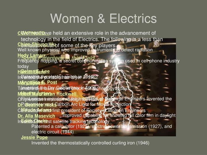 Women & Electrics