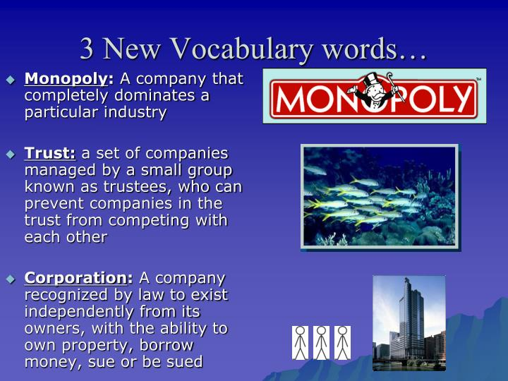 3 New Vocabulary words…