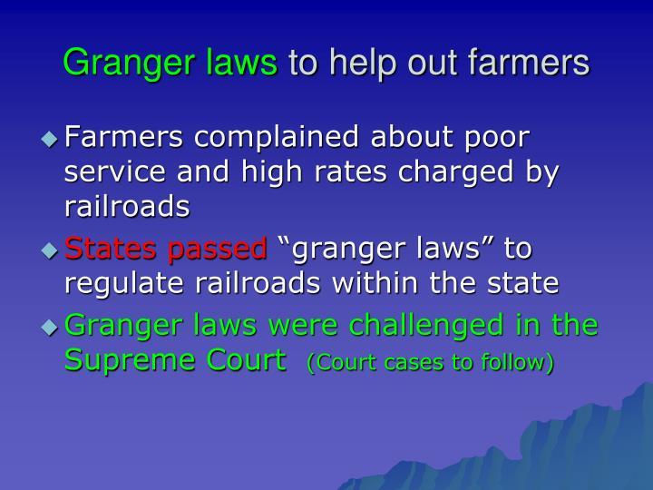 Granger laws
