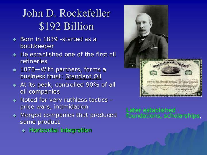 John D. Rockefeller