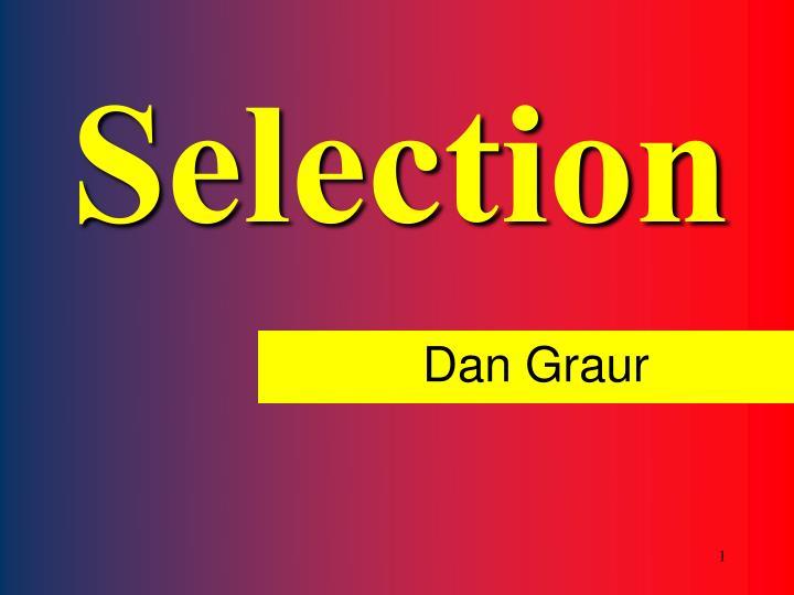 selection n.
