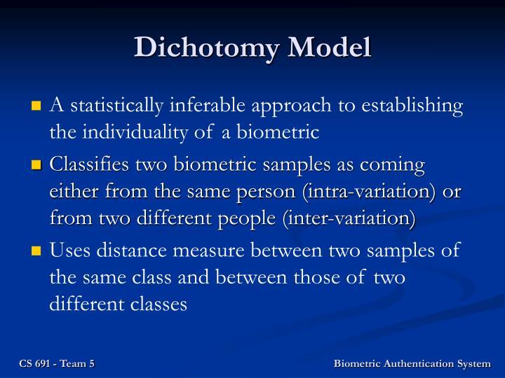 Dichotomy model