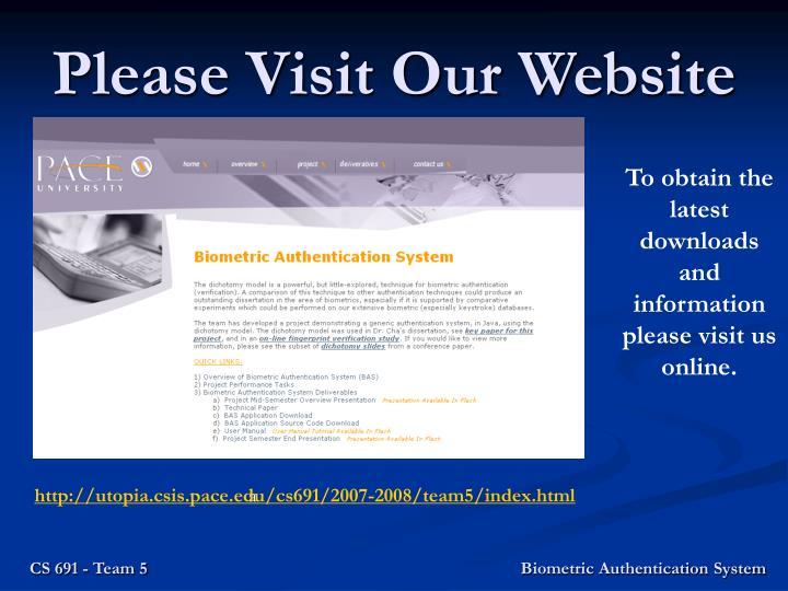 Please Visit Our Website