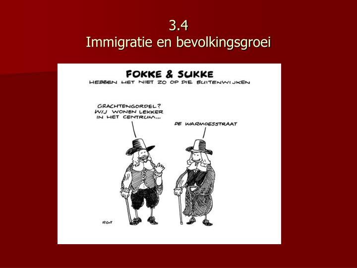 3 4 immigratie en bevolkingsgroei n.