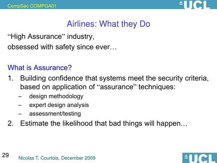 Airlines: What they Do