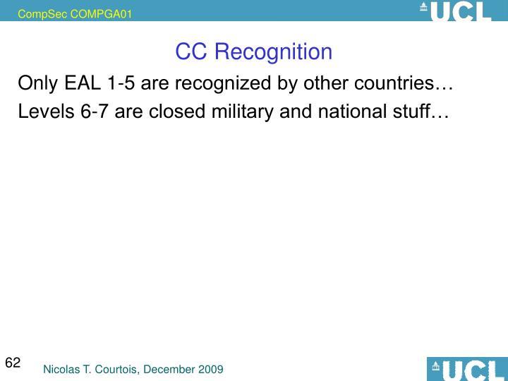 CC Recognition
