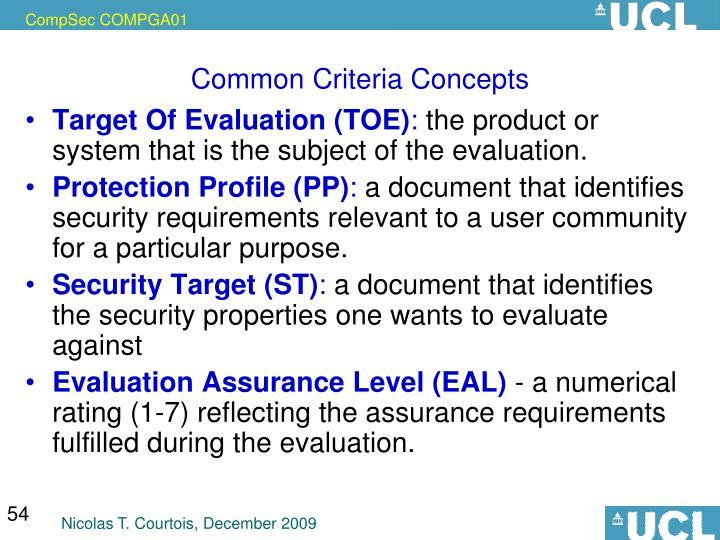 Common Criteria Concepts