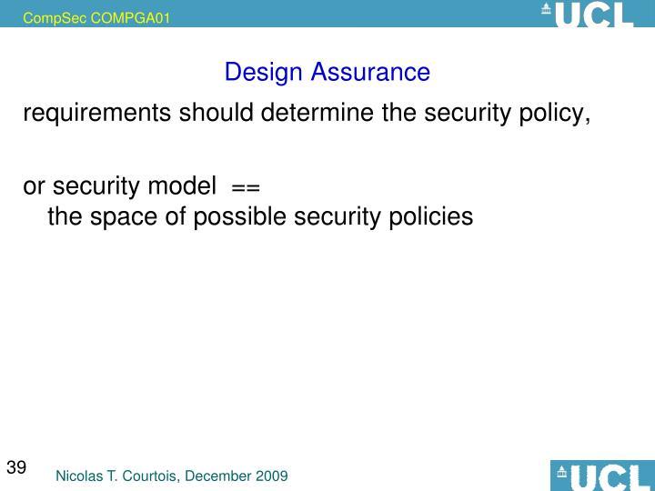Design Assurance