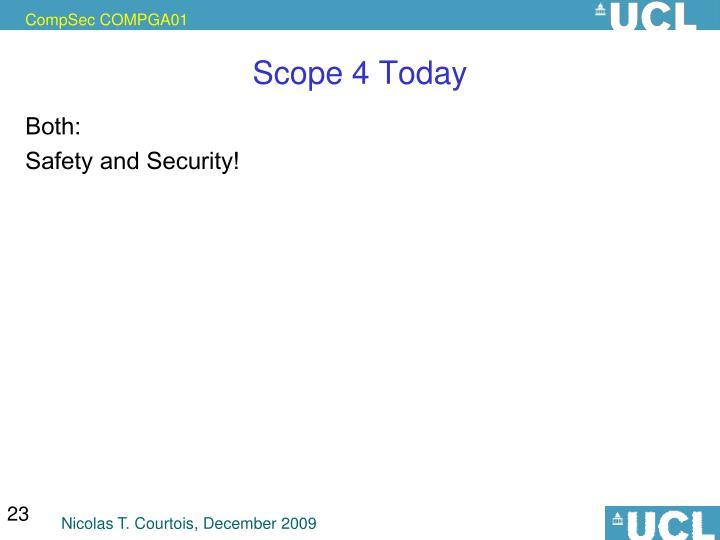 Scope 4 Today