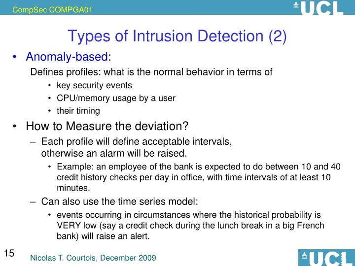 Types of Intrusion Detection (2)