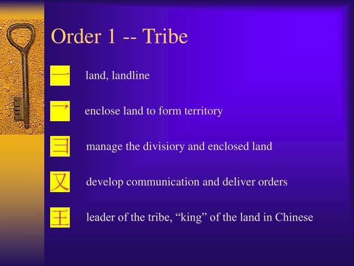 Order 1 -- Tribe