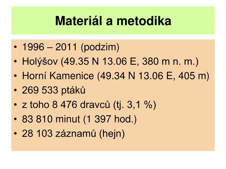 Materi l a metodika