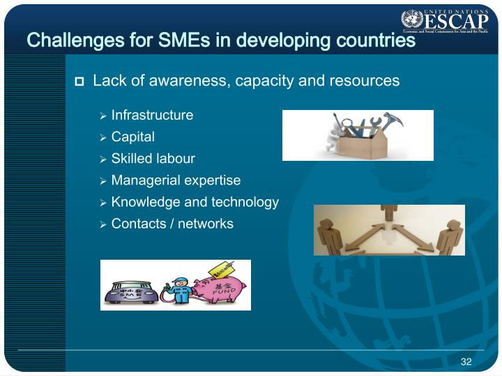Challenges for SMEs in developing countries