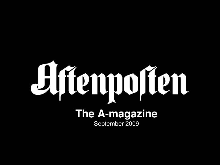 the a magazine september 2009 n.