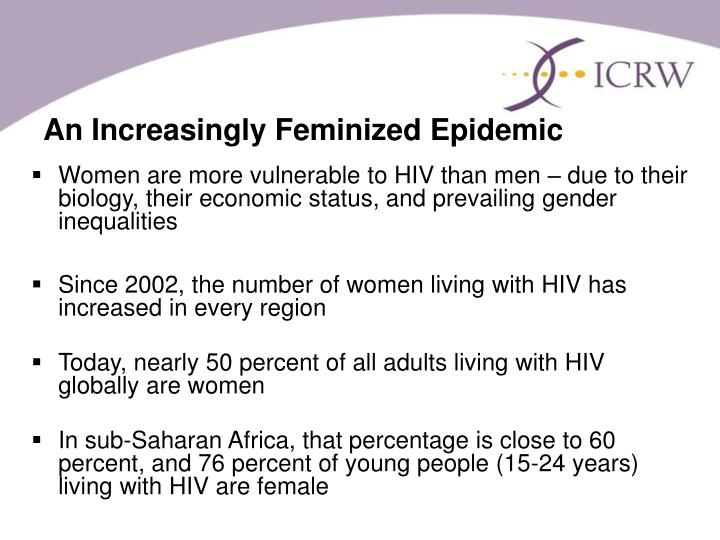 An increasingly feminized epidemic