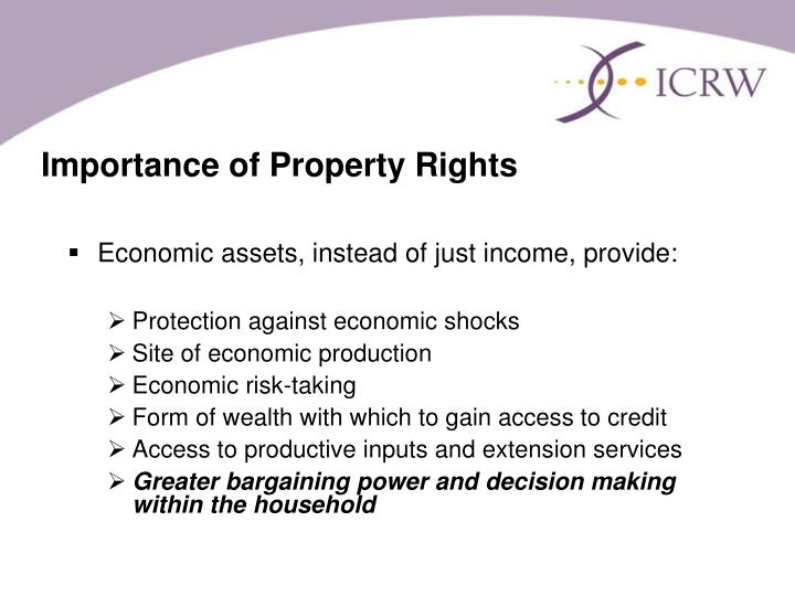Importance of Property Rights