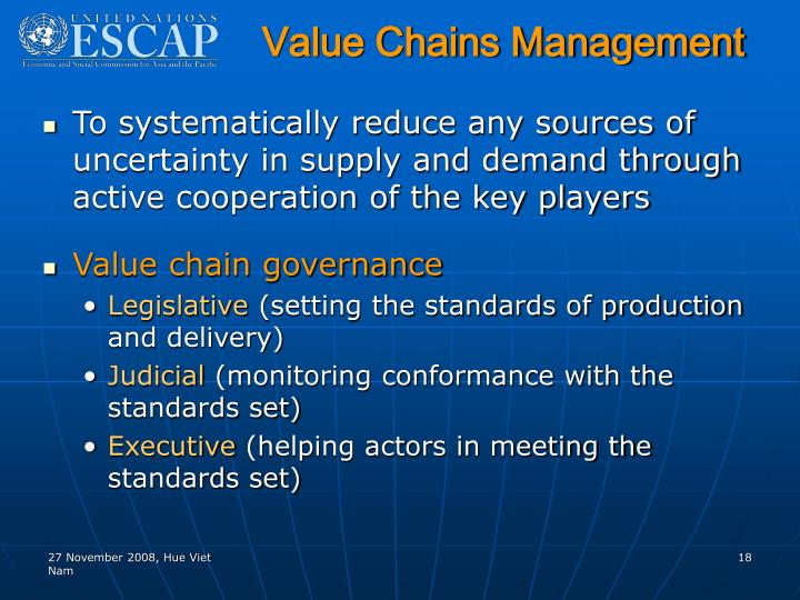 Value Chains Management