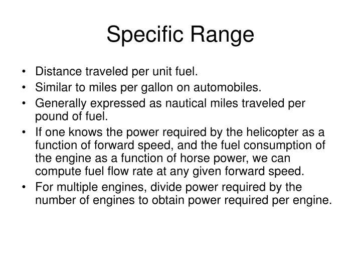 Specific Range