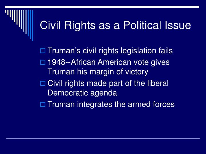 Civil Rights as a Political Issue
