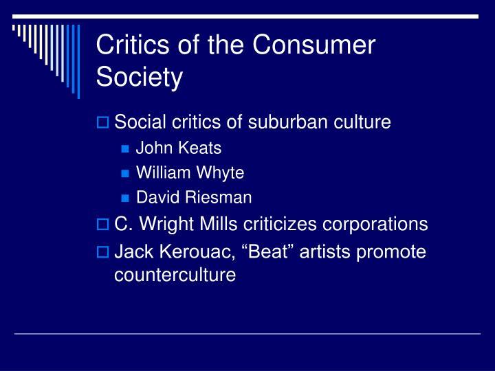 Critics of the Consumer Society