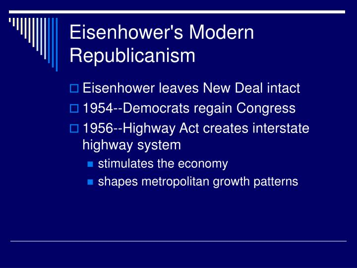 Eisenhower's Modern Republicanism