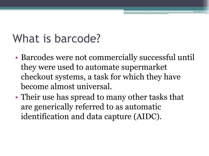 What is barcode1