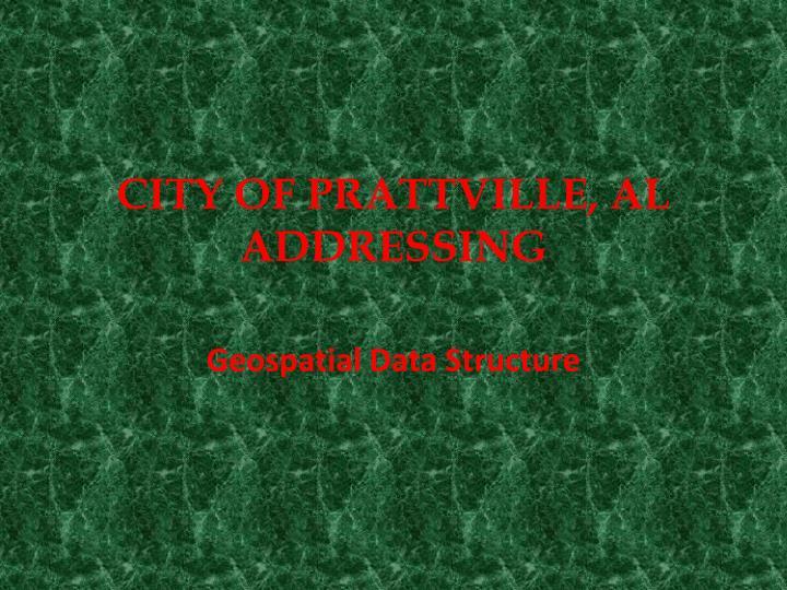 City of prattville al addressing