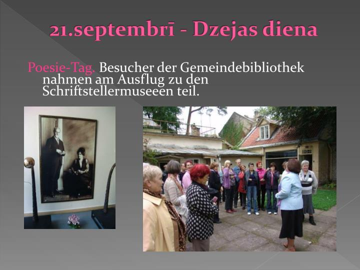 21.septembrī - Dzejas diena