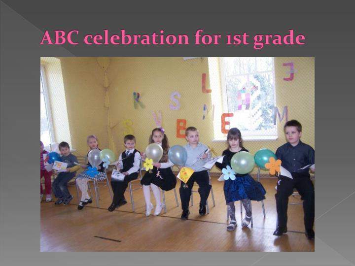 ABC celebration for 1st grade