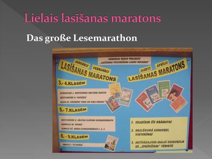 Lielais lasīšanas maratons