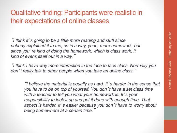 Qualitative finding